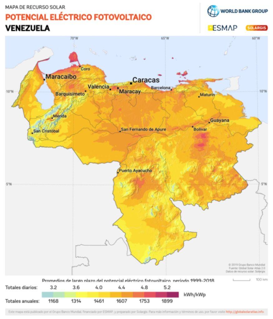 potencial eléctrico fotovoltaico